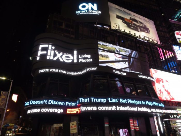 Flixel Wizard Jon Kane Houldsworth's cinemagraph in Times Square