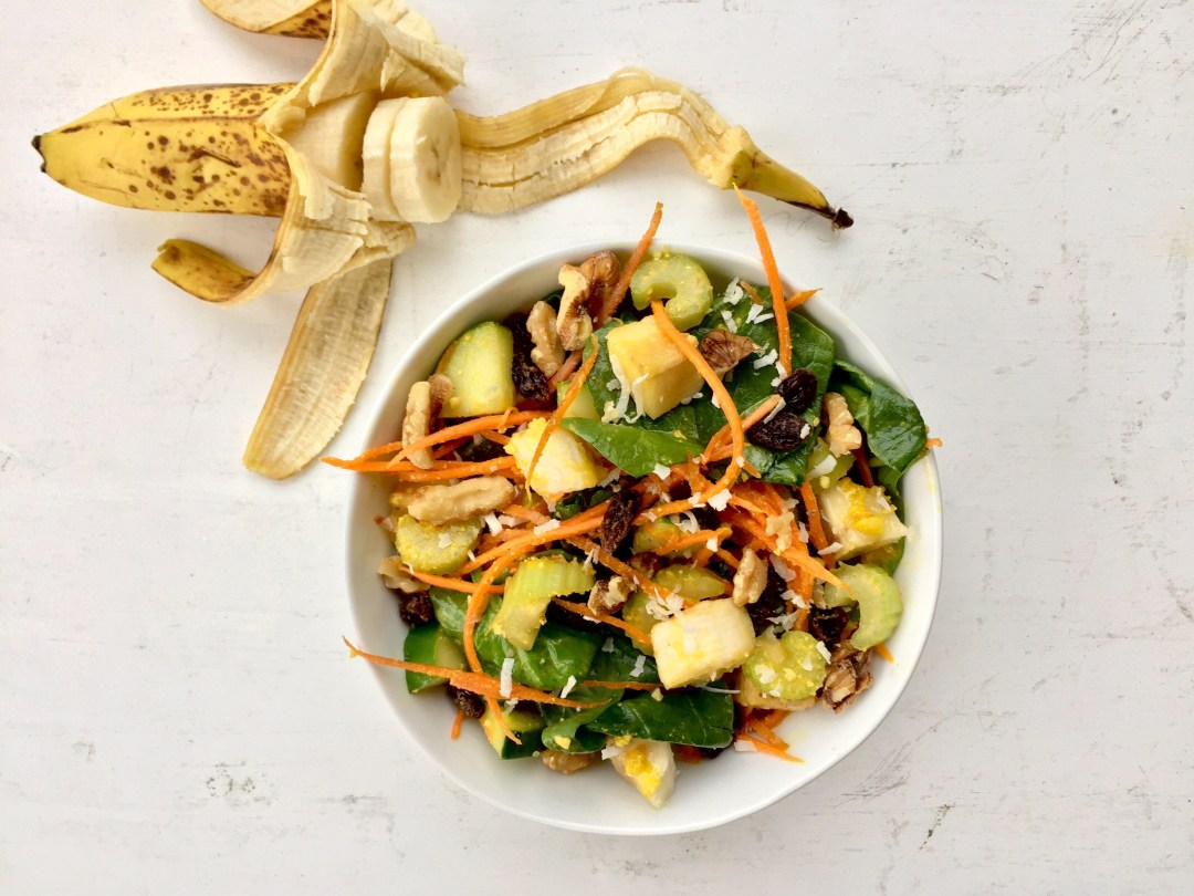 Salad with Miso-Ginger Sauce