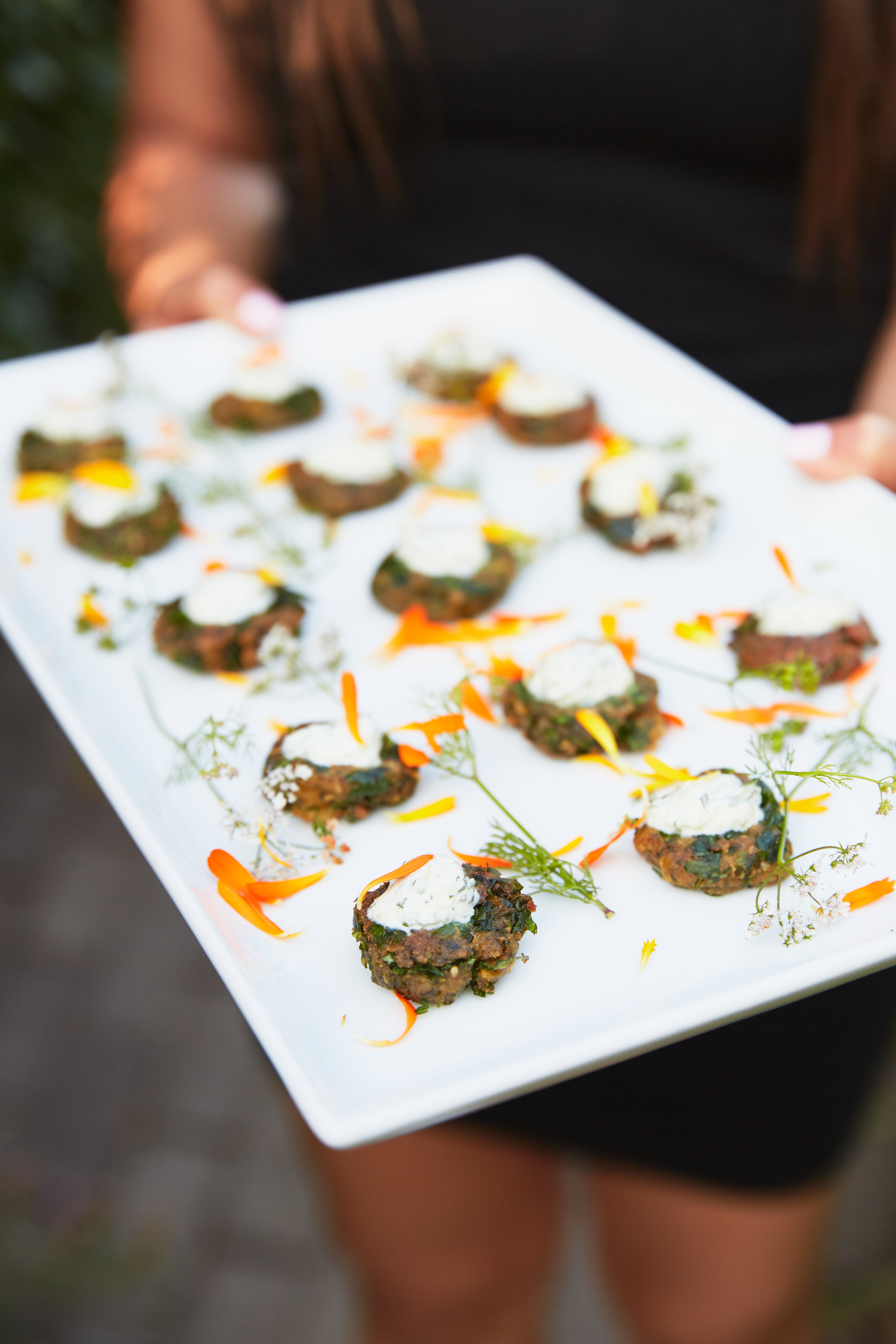 Falafel Fritters with Fermented Greens