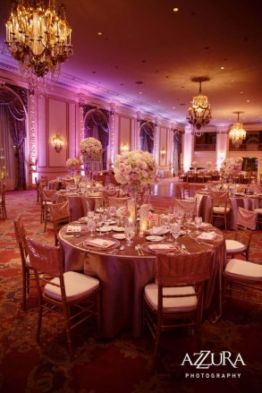 Gorgeous reception in the Spanish Ballroom