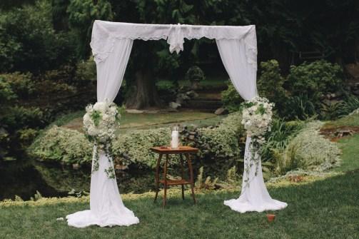 Flora Nova Design Seattle Wedding ceremony arch