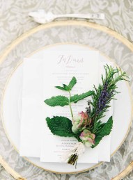 Flora Nova Design Seattle Wedding Reception Napkin Herb Bundle