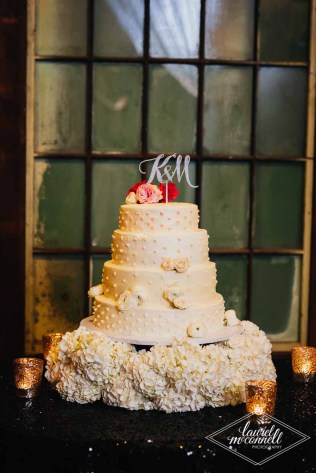 Flora Nova Design Seattle Luxury White Wedding Sodo Park Cake