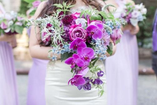 Flora Nova Design Seattle Purple Orchid Lakewold Garden Wedding