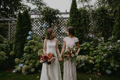 Colorful same sex Admirals House Seattle Wedding Flora Nova Design