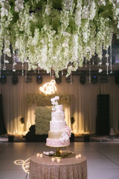 White floral chandelier