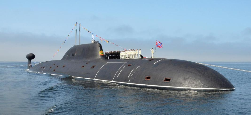 Russian navy and a Russian submarine