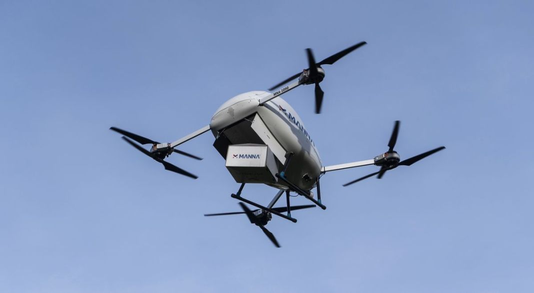 Medical drone delivery Manna Aero