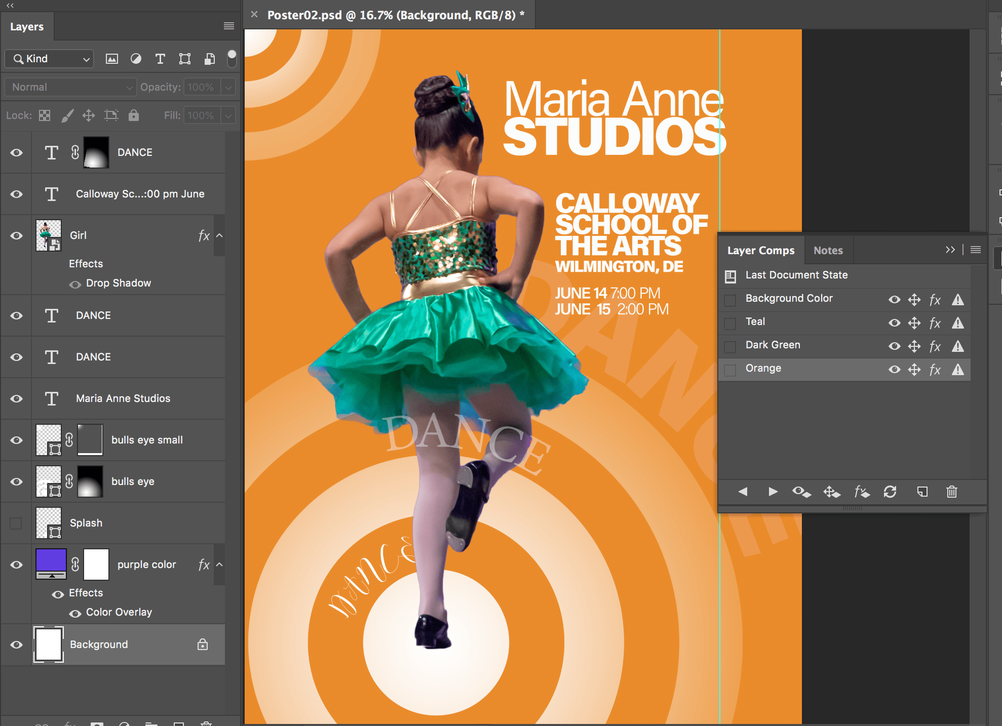 create a poster using only photoshop