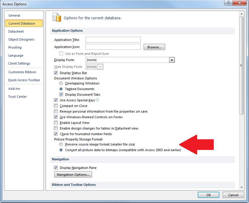 Microsoft Access 2016 And Invisible Picture Images