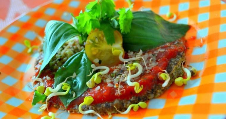 Rohkost Pizza – glutenfrei und vegan