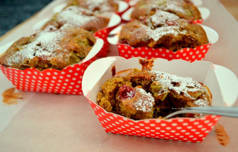 Dinkel-Stachelbeer-Muffins