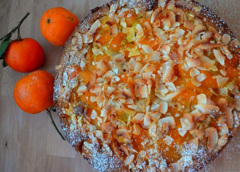 Mandarinen-Kokos-Kuchen – Vegan & glutenfrei