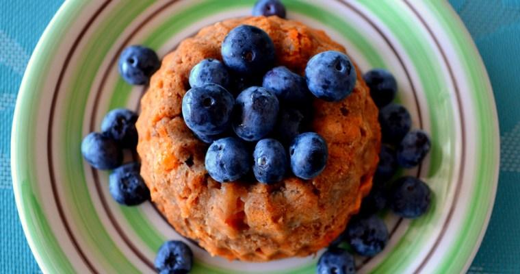 Kleine Erdmandel-Kuchen mit Papaya – vegan und glutenfrei