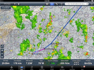 ADS-B radar on ForeFlight Mobile
