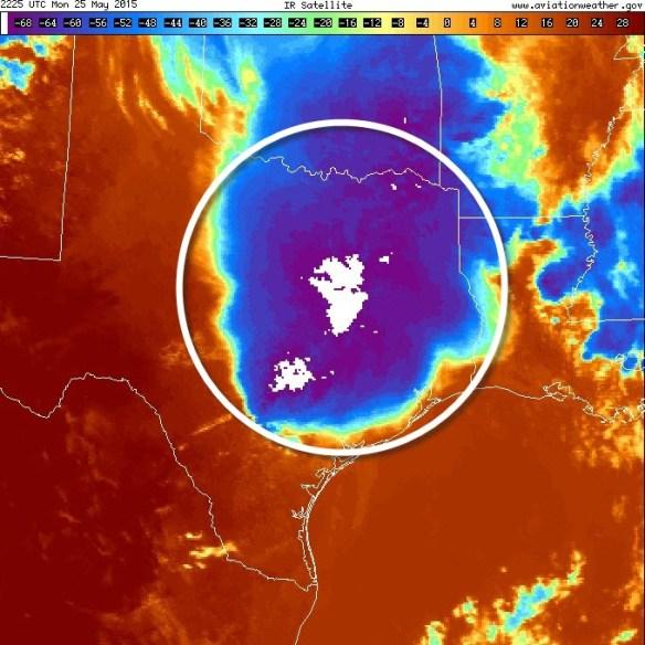 MCS on infrared satellite