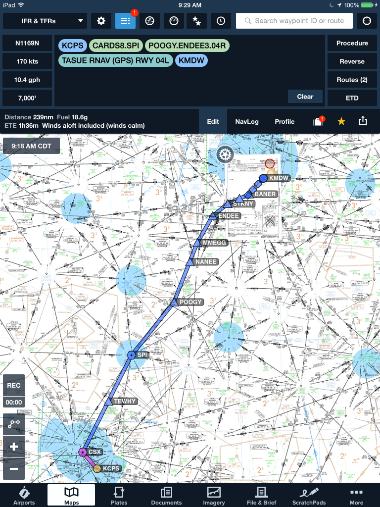 Easily add the waypoints to your route.
