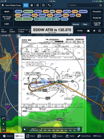 ForeFlight-Jeppesen-chart-on-map-with-radar-and-dest-wx-freq