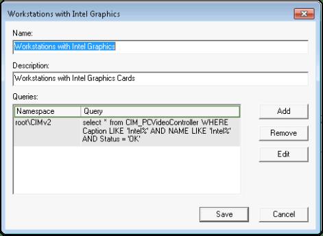 Create WMI Filter