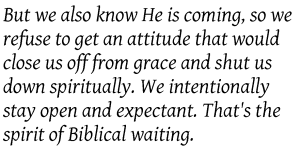 Secret Weapon - Biblical waiting