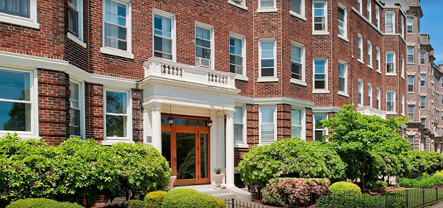 A Front View Of The Fenway Back Bay Portfolio Brick Apartments In Boston