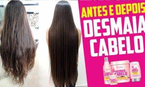 Antes e Depois Desmaia cabelo forever liss