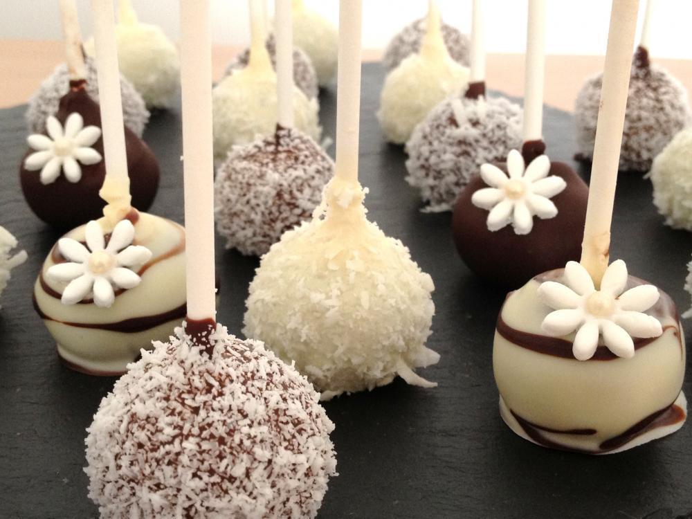 Cakepops de coco y chocolate