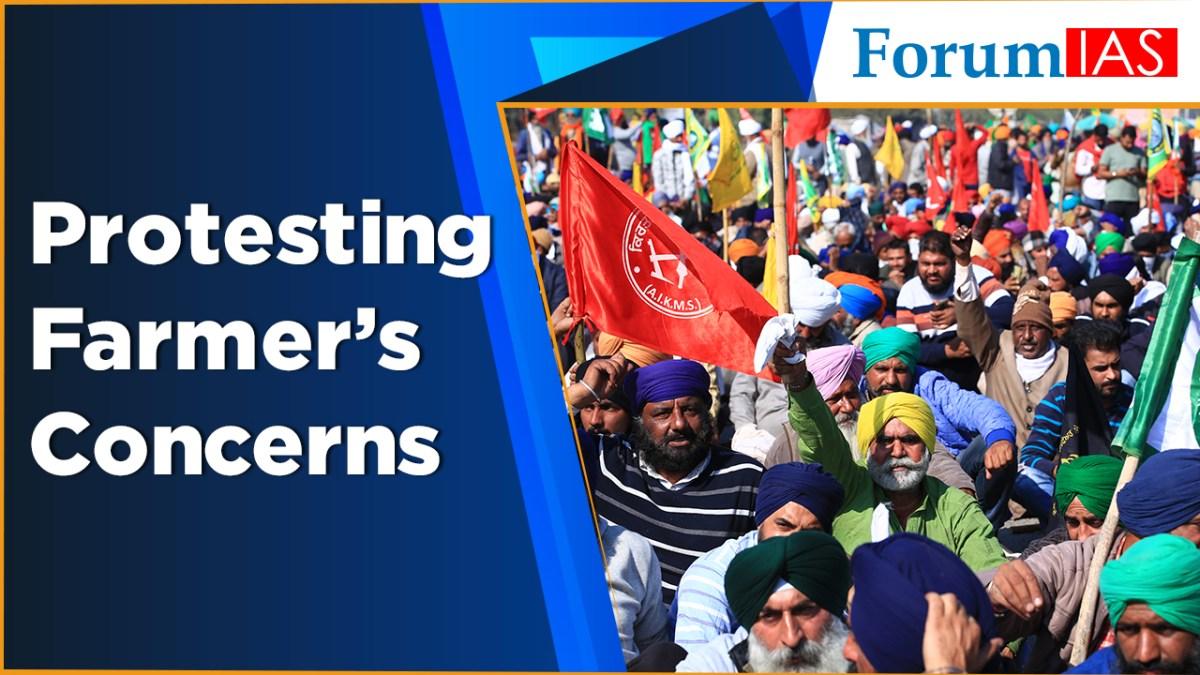 Protesting farmer' concerns