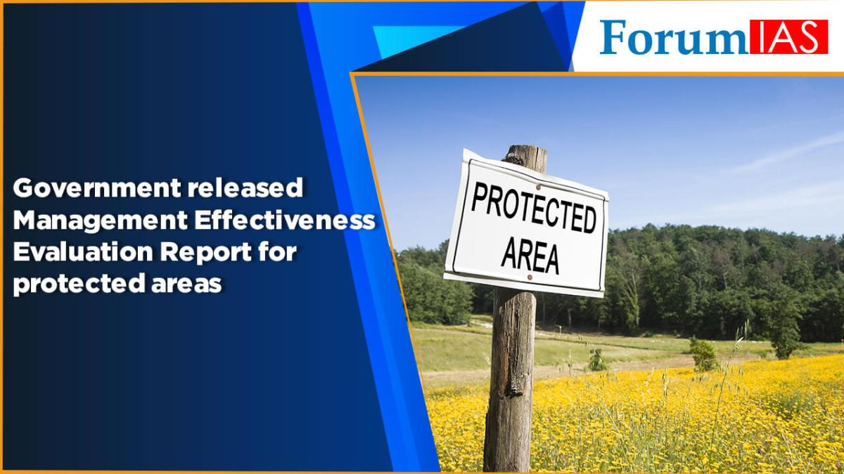 Government released Management Effectiveness Evaluation Report for protected areas
