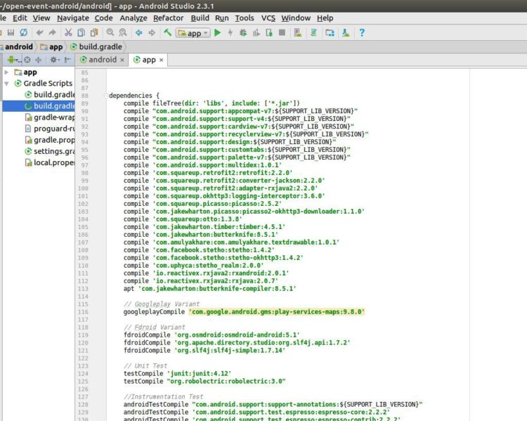 Debugging JSON Files of Sample Events for Open Event Android