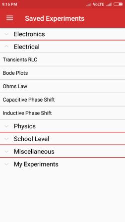 Implementation Of Experiments List Using ExpandableListView