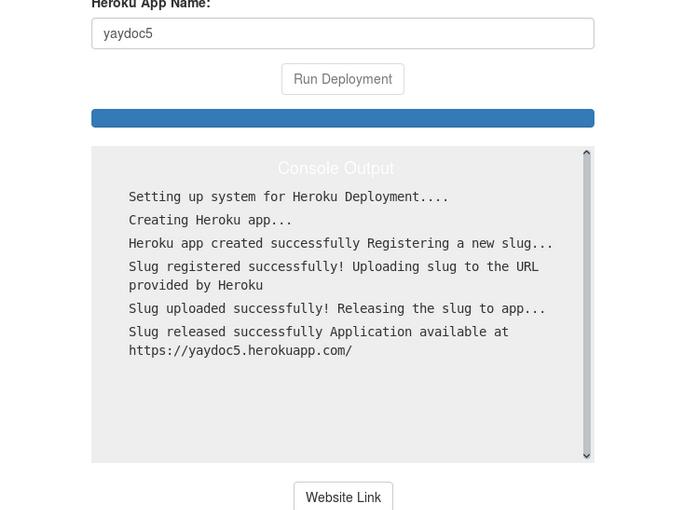 Deploying documentations generated by Yaydoc to Heroku