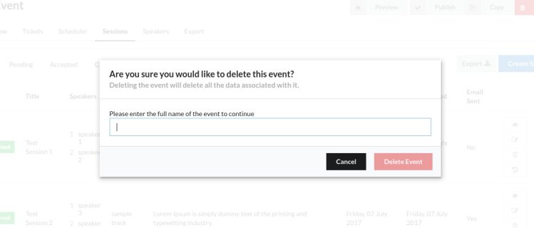 Using Semantic UI Modals in Open Event Frontend