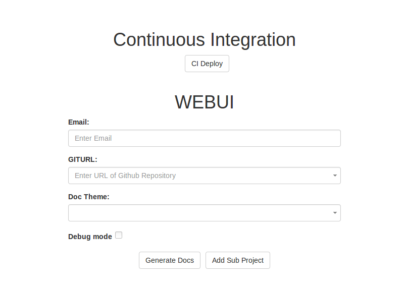Continuous Integration in Yaydoc using GitHub webhook API