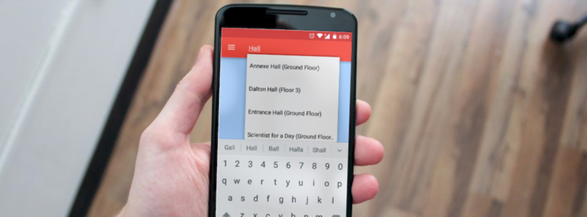 Using AutoCompleteTextView for interactive search in Open Event Android App