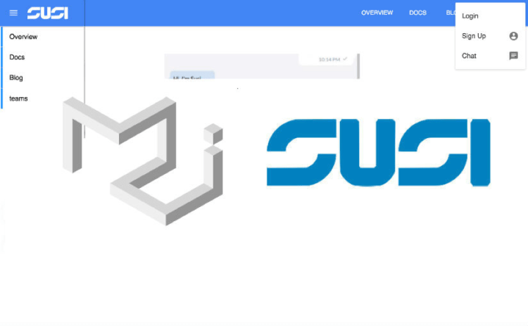 Implementing a Collapsible Responsive App Bar of SUSI Web Chat
