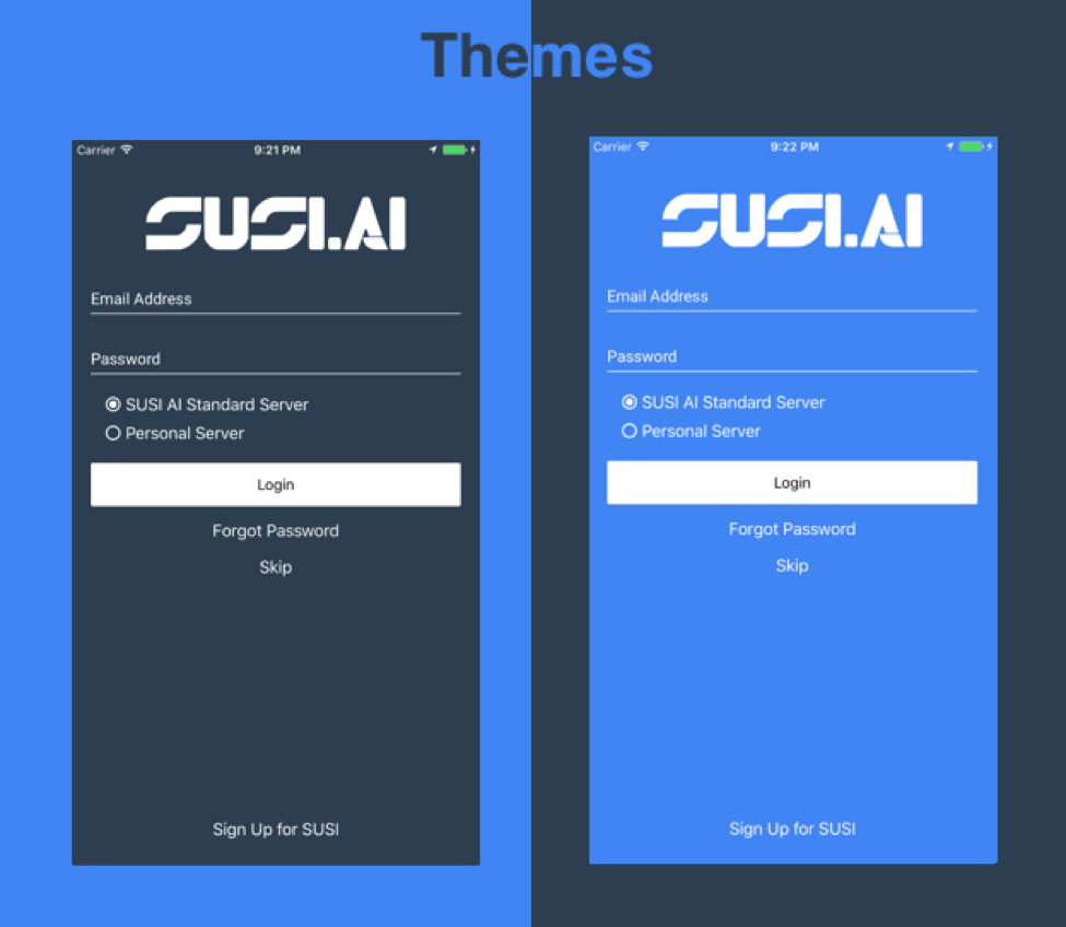 Using The Dark and Light Theme in SUSI iOS