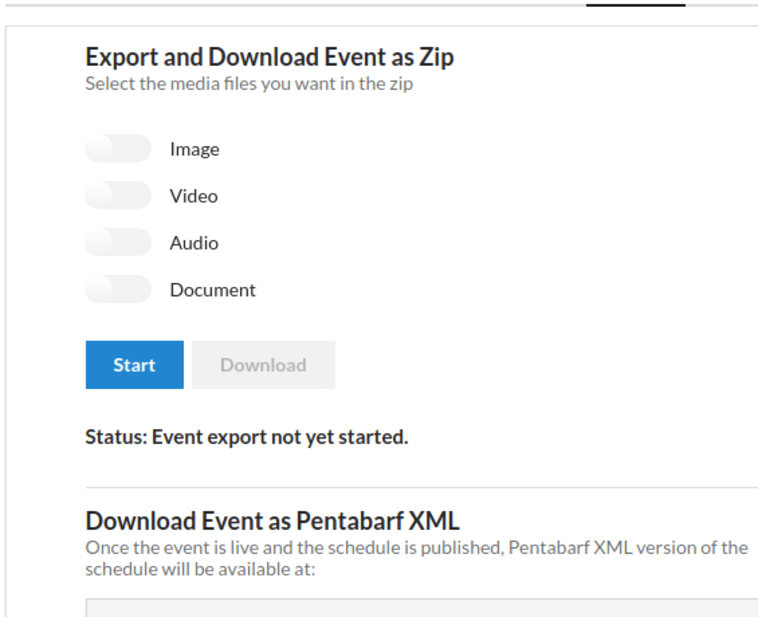 Implementing Event Export API in Open Event Frontend
