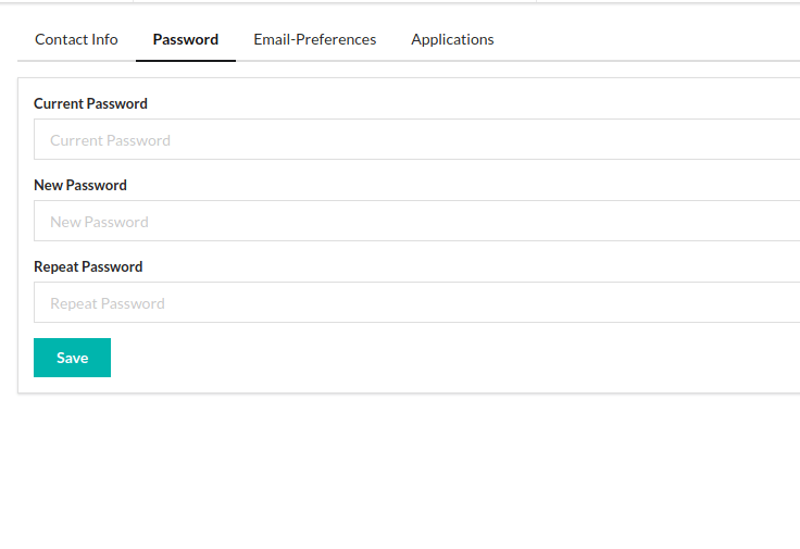 """Implementing """"Change Password"""" API in Open Event Frontend"""