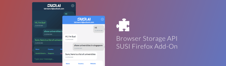 Using Browser Storage In SUSI Firefox Add-On