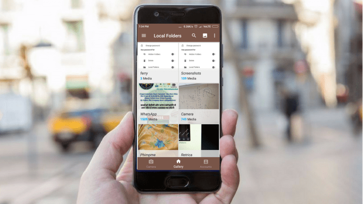 Displaying all the images from storage at once in Phimpme Android Application