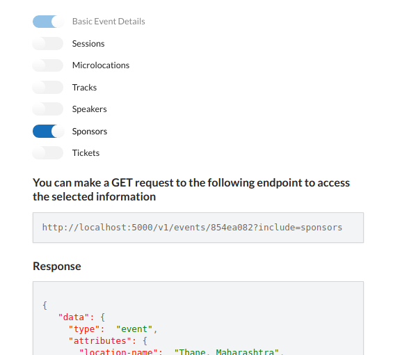 Open Event Frontend – Implement Access Event API via REST API