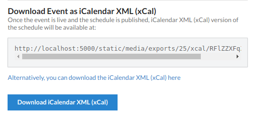 Open Event Server – Export Event as xCalendar File