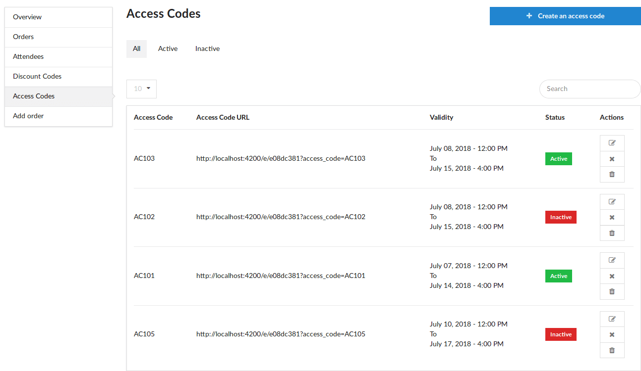 Adding an Edit Route for Access Codes in Open Event Frontend