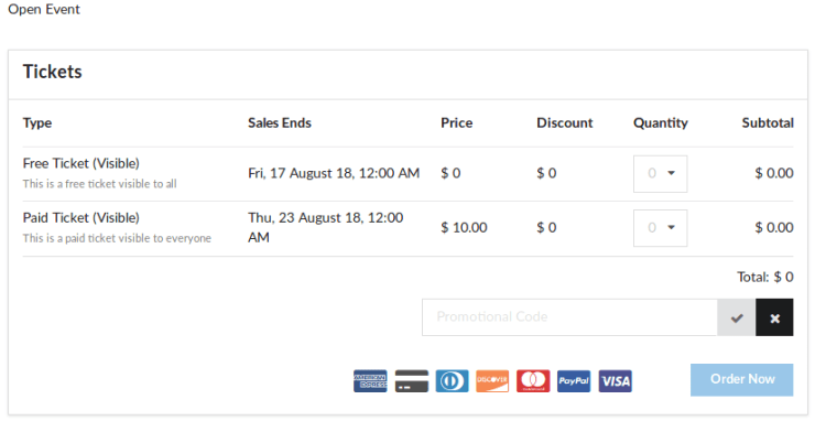 How to Make Promotional Codes Applicable on Tickets During Ordering in Open Event Frontend