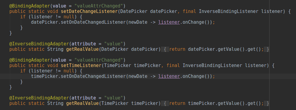 Implementing Custom Date and Time Picker with 2-way Data Binding Support