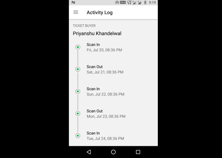 Implementing Timeline for Attendees Activity in Organizer App