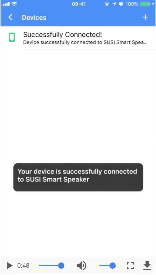 Connecting the Smart Speaker with Mobile Clients