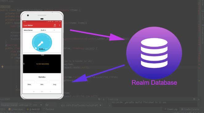 Storing Recorded Sensor Data in Realm Database