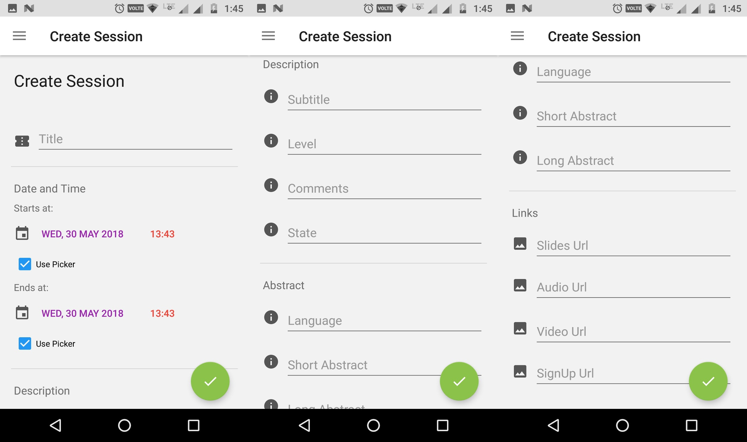 Create Session in Open Event Android Organizer Application